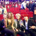 【防弾少年団】ラプモンの膝の上にアメリカの歌手が座る→韓国の反応「ラプモンの表情wwww」